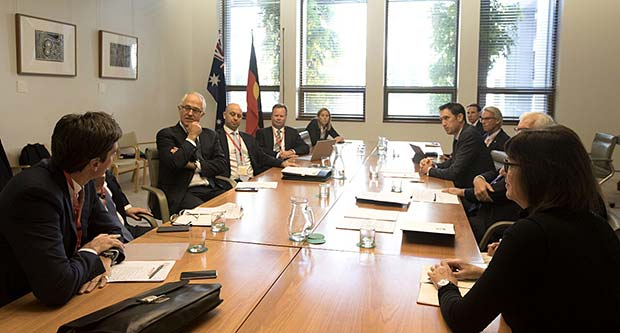 COMPPS CEOs meeting with Prime Minister Malcolm Turnbull
